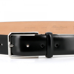 santoni nouveautés ceintures Ceinture OneCEINTURI ONE (2) - CUIR - NOIR