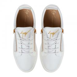 giuseppe zanotti nouveautés sneakers Sneakers FrankieGZ H FRANKIE - CUIR - BLANC ET Z