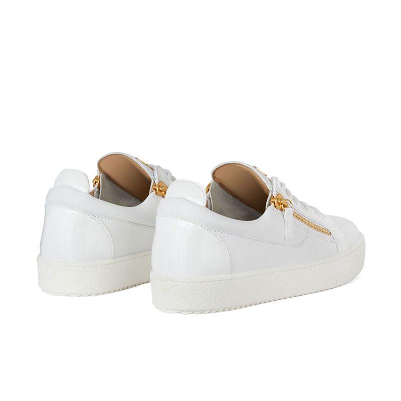 giuseppe zanotti sneakers Sneakers FrankieGZ H FRANKIE - CUIR - BLANC ET Z