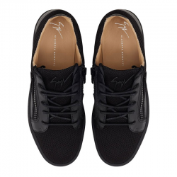 giuseppe zanotti nouveautés sneakers Sneakers FrankieGZ H FRANKIE - CUIR ET TOILE - N