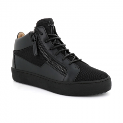giuseppe zanotti nouveautés sneakers Sneakers KrissGZ H KRISS - CUIR ET TOILE - NOI