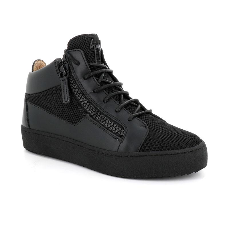giuseppe zanotti sneakers Sneakers KrissGZ H KRISS - CUIR ET TOILE - NOI