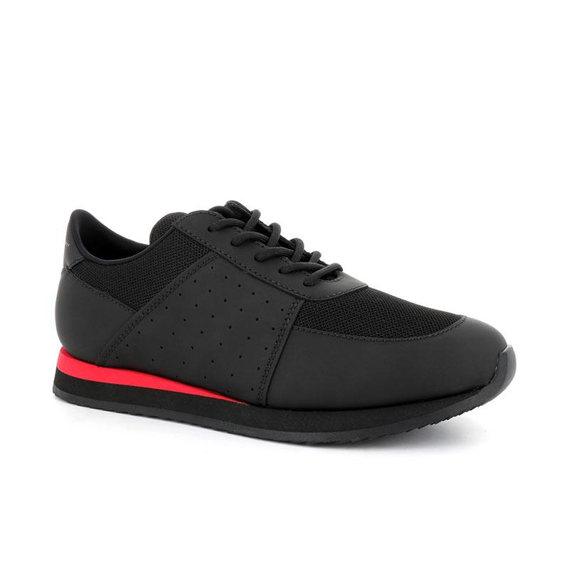 giuseppe zanotti nouveautés sneakers Sneakers JimmyGZ H JIMMY - CUIR GOMMÉ ET TOILE