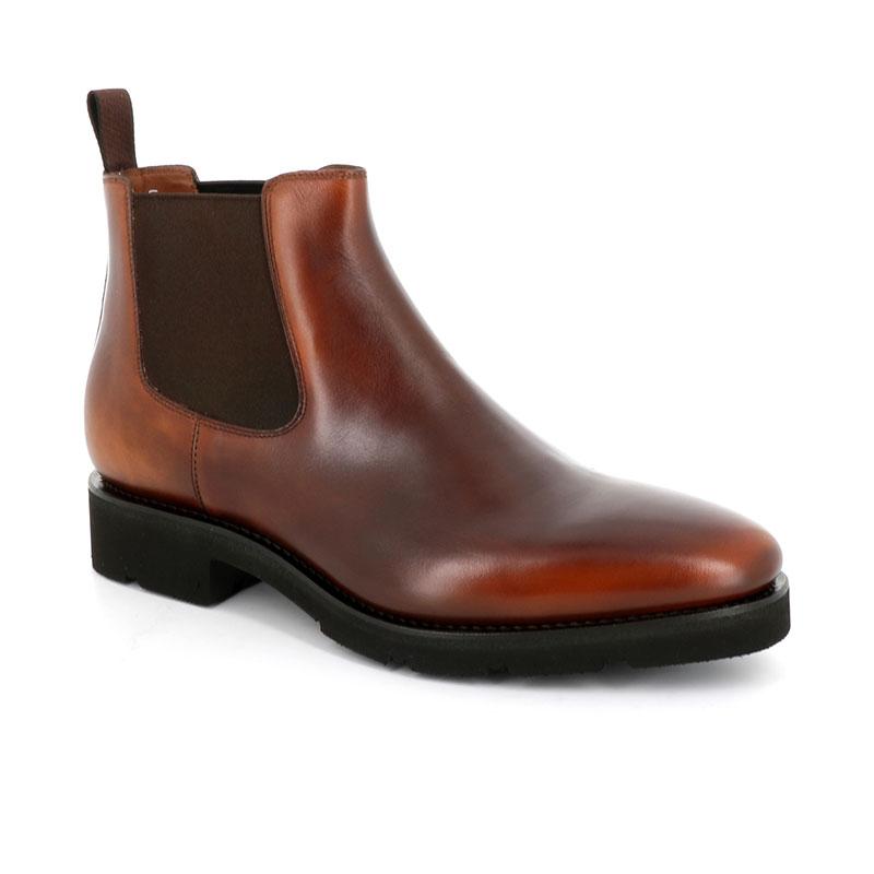 santoni boots et bottillons Bottines BohemianBOHEMIAN BOOTS - CUIR PATINÉ - G