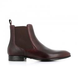 santoni boots et bottillons BottinesSIRANO - CUIR GRAINÉ - CHOCOLAT