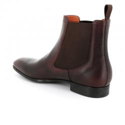 santoni nouveautés boots et bottillons BottinesSIRANO - CUIR GRAINÉ - CHOCOLAT