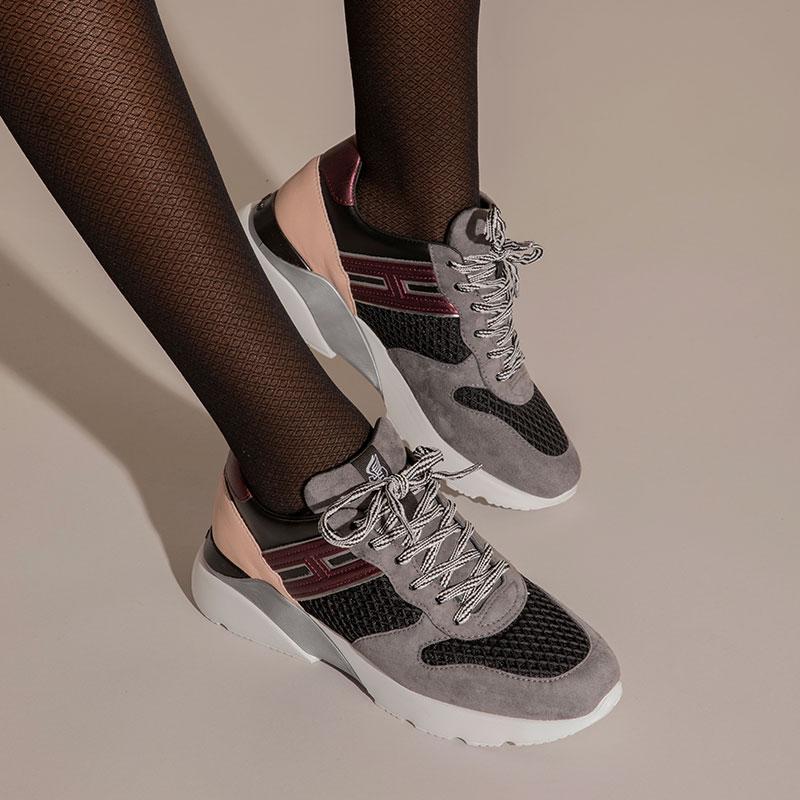 hogan sneakers Sneakers Active OneHF ACTIVE ONE - NUBUCK, TOILE ET
