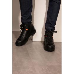 santoni nouveautés boots et bottillons Bottines à lacetsST MORITZ H - CUIR MAT ET NÉOPRÈ