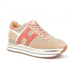 hogan nouveautés sneakers Sneakers H222ELIUM - NUBUCK, TISSU ET CUIR -