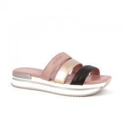 hogan nouveautés sandales hf h257 muleHF H257 MULE - CUIR TRICOLORE -