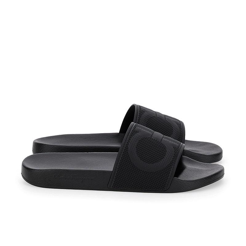 salvatore ferragamo sandales Flip FlopSF H CLAQUETTE - PVC - NOIR ET L