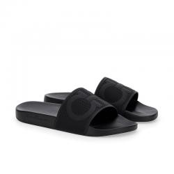 salvatore ferragamo nouveautés sandales Flip FlopSF H CLAQUETTE - PVC - NOIR ET L