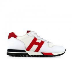 hogan nouveautés sneakers Sneakers H383HH H383 (1) - CUIR ET LOGO EN TO