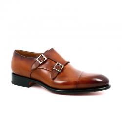 santoni nouveautés chaussures à boucles Double-boucle CarterCART - CUIR PATINÉ - GOLD (DISPO