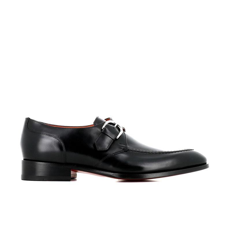 santoni chaussures à boucles Boucle CarterCARMONK BLAKE - CUIR - NOIR