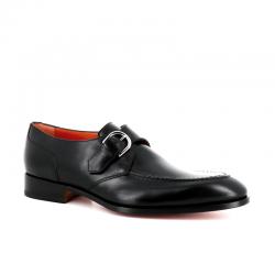 santoni nouveautés chaussures à boucles Boucle CarterCARMONK BLAKE - CUIR - NOIR