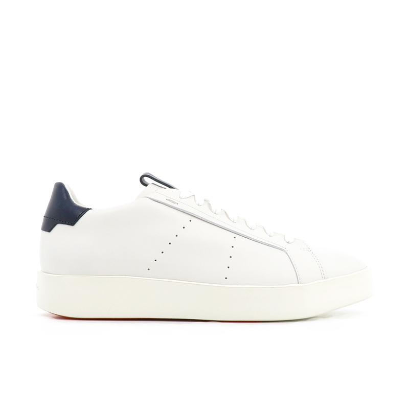 santoni sneakers Sneakers WideWIDE - CUIR - BLANC ET DÉTAILS M