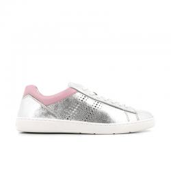 hogan nouveautés sneakers Sneakers H365HF H365 - CUIR IRISÉ - ARGENT