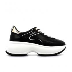hogan nouveautés sneakers Sneakers Maxi ActiveHF MAXI ACTIVE - CUIR - NOIR