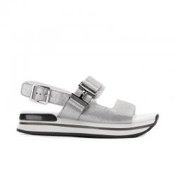 hogan nouveautés sandales Sandales H257HF H257 - CUIR - ARGENT