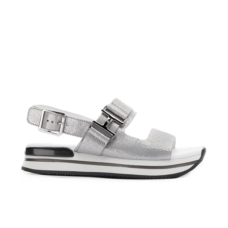 hogan sandales Sandales H257HF H257 - CUIR - ARGENT