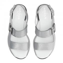 hogan nouveautés sandales Sandales H222HF H257 - CUIR - ARGENT