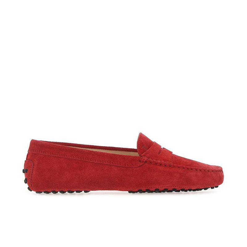 tod's mocassins & slippers Mocassins GomminoTODWOMEN - NUBUCK - ROUGE (2)