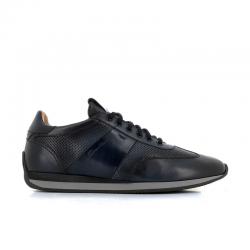 santoni sneakers Sneakers LacourtLACOURT - CUIR GLACÉ ET PATINÉ -