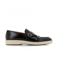 santoni nouveautés chaussures à boucles detroit boucleDETROIT BOUCLE - CUIR GLACÉ ET P