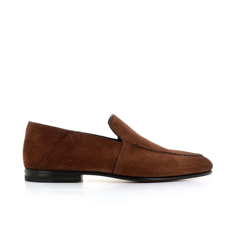 santoni mocassins et slippers carlosiCARLOSI - NUBUCK - MARRON CLAIR