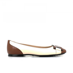 tod's nouveautés ballerines tod's ball catenaTOD'S BALL CATENA - CUIR BICOLOR
