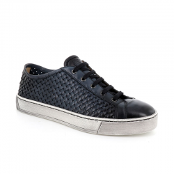 santoni nouveautés sneakers Sneakers GloriaNEW GLORIA 6 - CUIR TRESSÉ - BLE