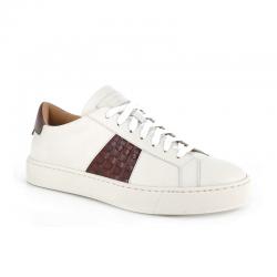 santoni nouveautés sneakers Sneakers GloriaNEW GLORIA 6 - CUIR ET CUIR IMPR