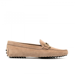 tod's mocassins & slippers Mocassins Gommino Double TTODTIE - NUBUCK - TABAC ET DOUBL