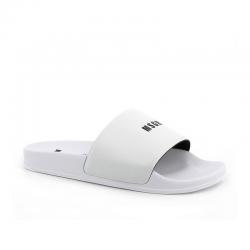 msgm nouveautés sandales SlidesMSGM F SLIDE - PVC - BLANC ET LO