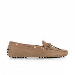 tod's mocassins & slippers Mocassins Gommino à lacetsLASSIE - NUBUCK - TABAC (3)