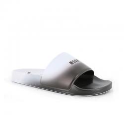 msgm nouveautés sandales SandalesMSGM H SLIDES - PVC - NOIR ET BL