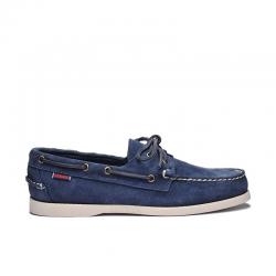 sebago promotions chaussures bateau DocksidesDOCK FEM NUB - NUBUCK - BLUE NAV