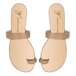 giuseppe zanotti nouveautés sandales Sandales Rock BagueGZ F NP ROCK - GLITTERS ET BAGUE