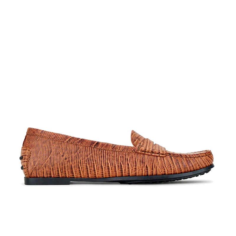 tod's mocassins & slippers Mocassins City GomminoBROKA - CUIR IMPRIMÉ PYTHON - GO