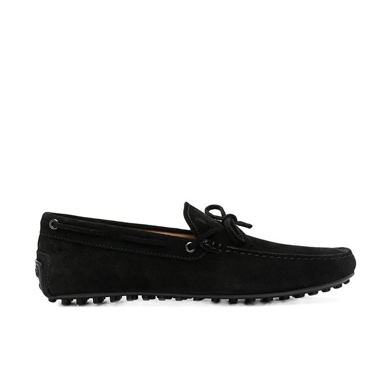 tod's mocassins et slippers Mocassins City Gommino à lacetsBABYLONE 3 - NUBUCK - NOIR