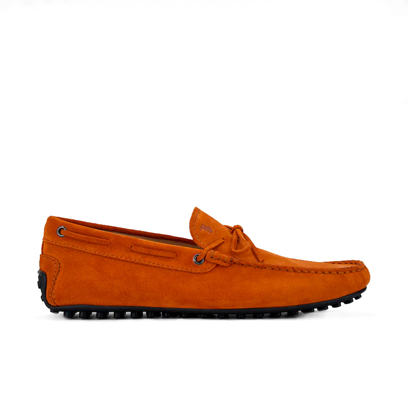 tod's mocassins et slippers Mocassins City Gommino à lacetsBABYLONE 3 - NUBUCK - ORANGE