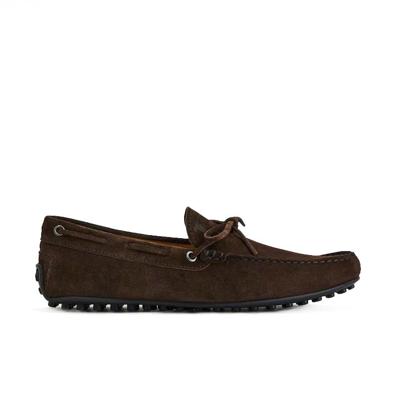 tod's mocassins et slippers Mocassins City Gommino à lacetsBABYLONE 3 - NUBUCK - CHOCOLAT