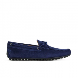 tod's mocassins et slippers Mocassins City Gommino à lacetsBABYLONE 3 - NUBUCK - MARINE