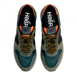 hogan nouveautés sneakers Sneakers H383HH H383 (1) - NUBUCK ET TISSU TE