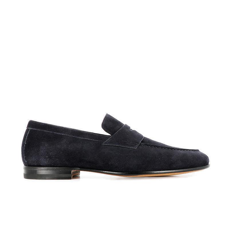 santoni mocassins et slippers MocassinsCARLOS 2 - NUBUCK - MARINE