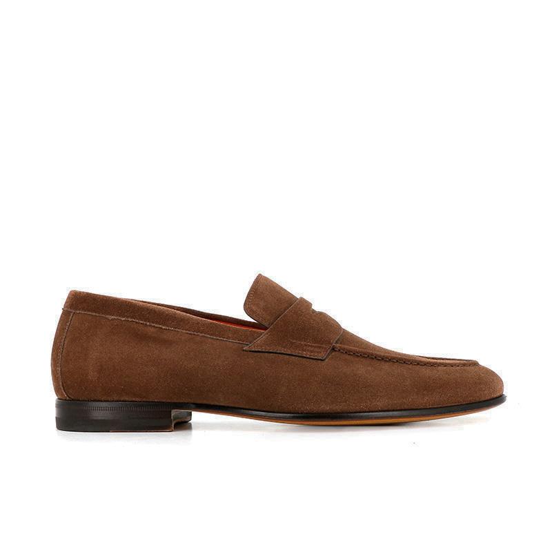 santoni mocassins et slippers MocassinsCARLOS 2 - NUBUCK - MARRON