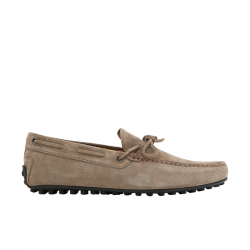 tod's mocassins et slippers Mocassins City Gommino à lacetsBABYLONE 3 - NUBUCK - GRIS