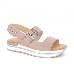 hogan nouveautés sandales Sandales H222HF H257 - CUIR - ROSE