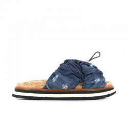 hogan sandales Sandales SlidesHF SLIDES - TISSUS - JEAN